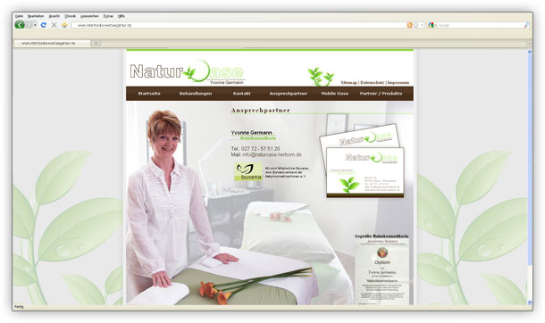 Webdesign naturkosmetik spa referenz intermedia peters for Werbeagentur offenbach