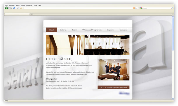 Webdesign spa und wellness referenz intermedia peters for Werbeagentur offenbach